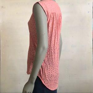 Topshop Tops - Top Shop Sleeveless Pink High/Low Layering Top